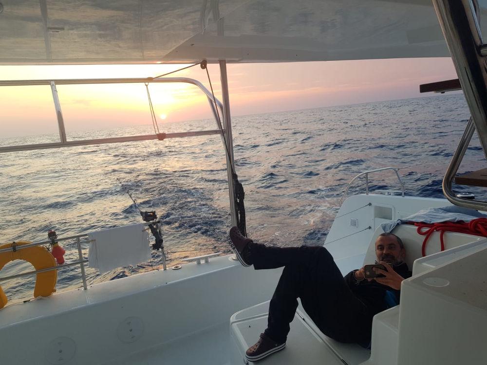Delivery catamaran by Capetan